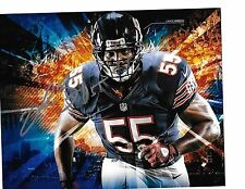 LANCE BRIGGS 'CHICAGO BEARS' ALL-PRO LINEBACKER SIGNED 8X10 PICTURE *COA 2