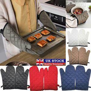 1 Pair Oven Glove Kitchen Cooking Pot Holder Thick Heat Resistant Mitt Mittens