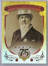 2014 PANINI HALL OF FAME ALEXANDER CARTWRIGHT 1/1 ONE OF ONE SUPERFRACTOR