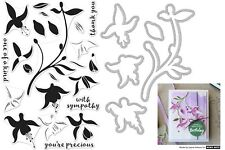 Hero Arts Clear Stamps & matching Dies - Colour Layering Fuchsia, Flowers