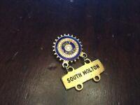 Rotary Club Vintage Inner Wheel South Molton Badge Metal Rotary Club