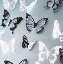 18 x 3D Plastic Butterflies DIY Art Decal Home Fashion Decor Wall Mural Stickers