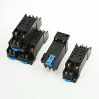 35mm DIN Rail Mounting 8 Screw Terminals Relay Socket Base Holder DTF08A 5 Pcs