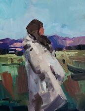 JOSE TRUJILLO Oil Painting IMPRESSIONISM 11X14 CONTEMPORARY MODERNIST ARTIST