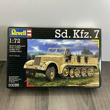 REVELL SD.KFZ. 7 1:72 MILITARY 03186 NEW OLD STOCK RARE 88 PIECE SCALE MODEL KIT