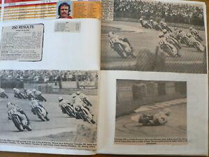 MOTO GP UK, USA, CANADA, ARGENTINA,VENEZU SCRAPBOOK & PICTURES & RESULTS 1963-77