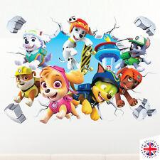 3D PAW PATROL Wall Sticker Vinyl ARTE Camera Da Letto Casa Poster Bambini Ragazzi Ragazze Cartoni Animati