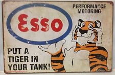 ESSO Garage Rustic Look Vintage Retro Tin Signs Man Cave, Shed & Bar SIGN