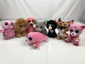 """Lot of 8 Ty Beanie Boos 7"""" with tags"""