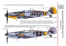 Hungarian Aero Decals 1/32 MESSERSCHMITT Bf-109G-14 TROP Fighter