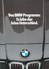 Prospekt BMW Modellprogramm 1980 - 1/80  M1 3er E30 5er E12 6er E24 7er E23