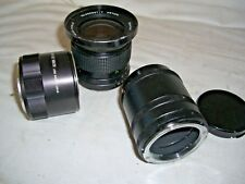 Job lot of 3 x Vintage Camera Lenses 1 x Vivitar 28mm 1:2.5 Auto Wide Angle