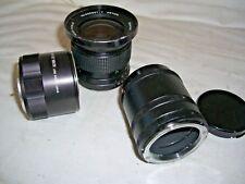 Lavoro Lotto di 3 x vintage lenti della fotocamera 1 X Vivitar 28 mm 1:2 .5 Auto Wide Angle