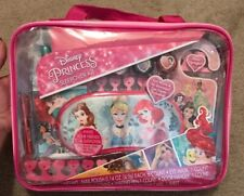 Disney Princess Sleepover Kit 17pc Nail Polish Note Pad Pen Carrying Case +more