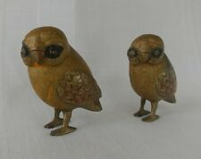Pair of Brass Owl Figurines Owl Statues Bird Night Owl