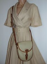 Laura ASHLEY VINTAGE 40/50' Safari COLONIALE completamente A Pieghe Con Cintura Casual Dress 14