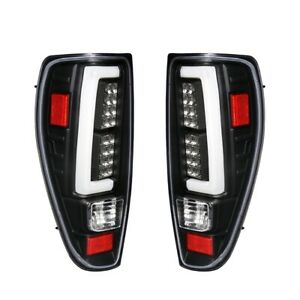 Fit 04-12 Chevy Colorado /Canyon Tube White Streak Led Tail Lights Black/ Clear