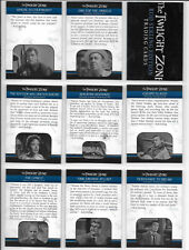 Twilight Zone Rod Serling Edition Complete 150 Card Set Plus Wrapper