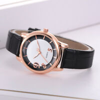 Women Fashion Leisure Set Leather Band Watch Stainless Steel Quartz Dress Watch