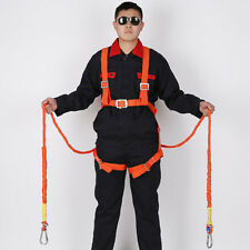 2m Fall Protection Full Body Safety Harness Double Ropes and Hooks, 100kg