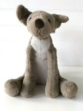 Jellycat Mac Pup Puppy Dog Soft Toy Baby Brown/Taupe Sitting Plush Medium