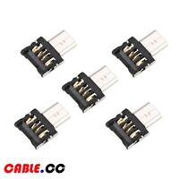 Cablecc 5pcs/lot Ultra Mini Micro USB 5pin OTG Adapter Connector for Cell Phone