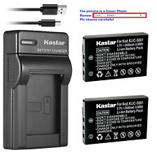 Kastar Battery Slim Charger for Kodak KLIC-5001 & Kodak EasyShare Z760 Camera
