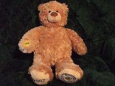 """2007 build a bear 18"""" tan shaggy teddy bear does not talk or play"""