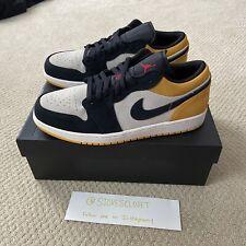 Nike Air Jordan 1 Low University Gold Black Sail Size 11 553558-127
