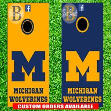 Michigan Wolverines Corn hole Set of 6 Vinyl Decal Stickers cornhole Toss Game