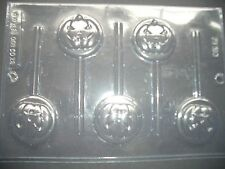 5 ON 1 CREEPY PUMPKIN FACE CHOCOLATE LOLLY MOULD/MOULDS/KIDS/HALLOWEEN PARTY