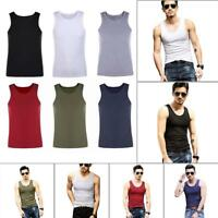 Men's Muscle Sleeveless Tank Top Tee Shirt Bodybuilding Sports Gym Fitness Vest