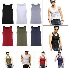 Men Tops Vest Body Compression Tight Tank Summer Fitness Muscle Sleeveless Slim