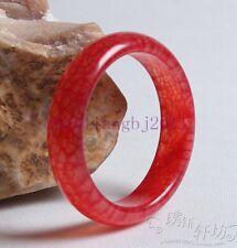 Unique Natural Rare Blood Stone Hand Carved Red Jade Bracelet 56mm 62mm