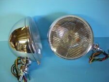 King Bee Style Headlights Chrome W/ Signals 1928 1929  1931 1932 1933 1934 Ford