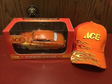First Gear Ace '49 Mercury Lead Sled 1:25 Scale Diecast Orange W/Flames And Cap