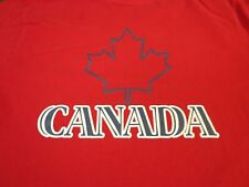 Canada T-shirt Faux Turtleneck  Small   Red   Tee    M2