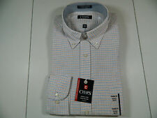 Chaps Performance Series Check Shirt Classic Fit Lng Slv 16 16 1/2 36/37 New