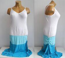NEU tolles wadenlanges Damen Sommer Shirt Kleid mit seitlicher Raffung Gr.44/46