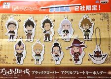 NEW Black Clover Mascot Acrylic Plate Keychain Ball Chain Limited Official Japan