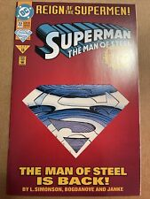 SUPERMAN THE MAN OF STEEL #22 JUNE 1993 🔑 High Grade Copy 🔑