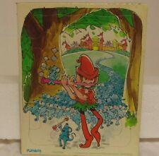 """Pied Piper vintage 1976 child's large piece 8x10"""" Playschool board jigsaw puzzle"""