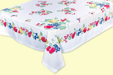 Vintage Fruit 100% Cotton Tablecloth by Red and White Kitchen Company
