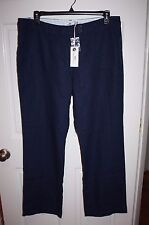 NWT Womens Vineyard Vines Navy Blue Linen Cargo Pants Size 16