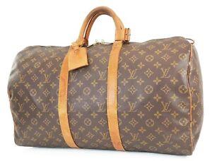 Authentic LOUIS VUITTON Keepall 50 Monogram Canvas Duffel Bag #39082