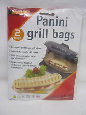 New Toastabags Panini Griddle And Grill Toastie Toasted Sandwich Bags Pk 2