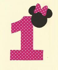 Minnie Mouse 1st Birthday Iron on Applique