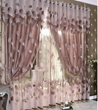 Modern Leaves Curtains Tulle Window Sheer For Living Room Bedroom Kitchen Decors