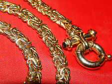 "14K SOLID GOLD WIDE LINK BYZANTINE NECKLACE WITH TOGGLE CLASP  19""  SUPER NICE!!"