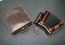 HOHNER CLUB MODELL II (2) Ziehharmonika, Akkordeon, original Koffer ANTIK! 30er?